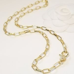 Jewelry - Chic Matte Gold Rectangular Links Chain Necklace